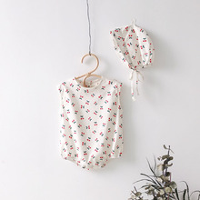 New Baby Bodysuit New Summer Clothes Fashion Cute Cherry Prints Baby Jumpsuit Ki