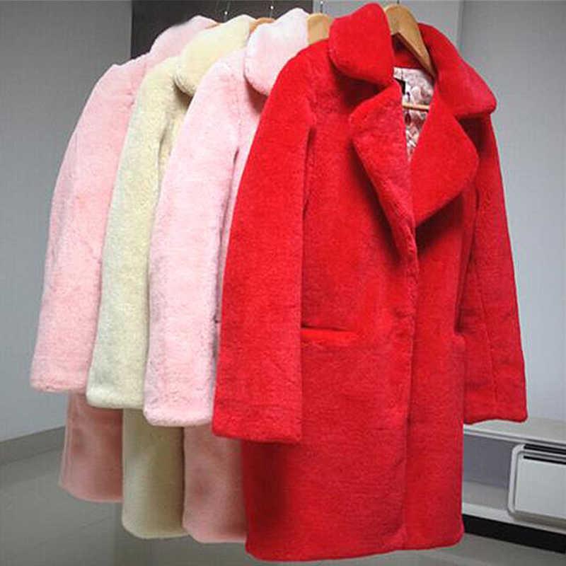 Gilet פרווה פו פרווה מעיל מעיל נשים חיקוי מינק פרווה בתוספת גודל XXXL ורוד פרווה מעיל אירופאי עיצוב לעבות חם מעיל XC037