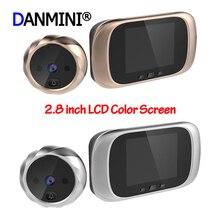 2.8 인치 스마트 디지털 초인종 카메라 90도 도어 아이 초인종 전자 틈 구멍 카메라 뷰어 야외 도어 벨 새로운