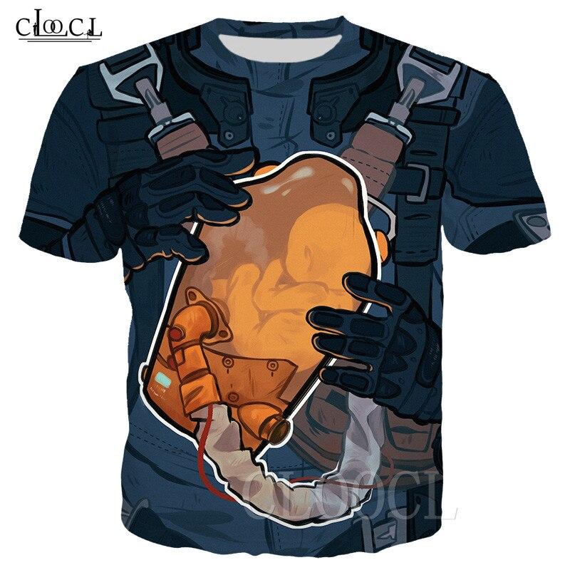 Men's Death Stranding BB Pod T Shirt Women Men Clothes Casual Short Sleeve Crew Neck Tees Unique T-Shirt 3D Print Hip Hop Tshirt