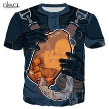 T Shirt manches courtes col ras du cou pour homme, avec dosette BB, Unique, imprimé en 3D, Hip Hop