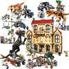 Jurassic World Brutal Raptor Building Blocks Jurrassic World 2 Dinosaur Figures Bricks Toys For Children Compatible Legoinglys