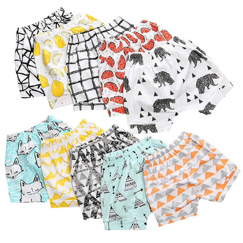 Summer Children's Clothing Girls Boys Shorts Toddler Print Cotton Baby Kids Clothes Shorts Bloomers Bottom Pants