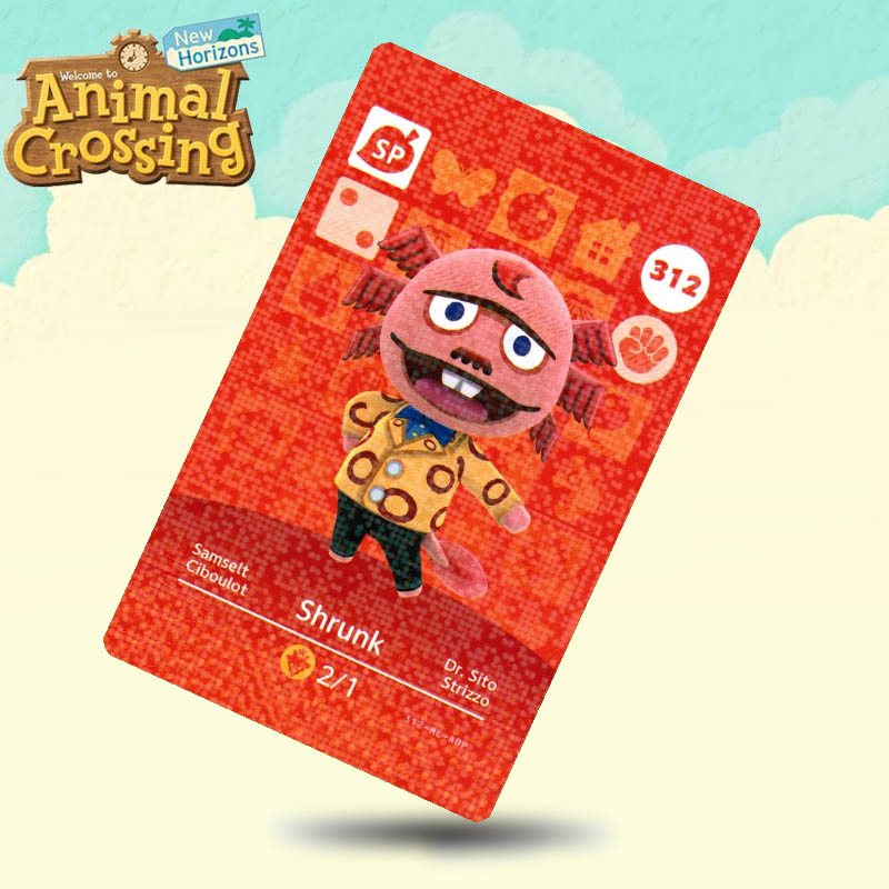312 Shrunk Animal Crossing Card Amiibo Cards Work For Switch NS 3DS Games