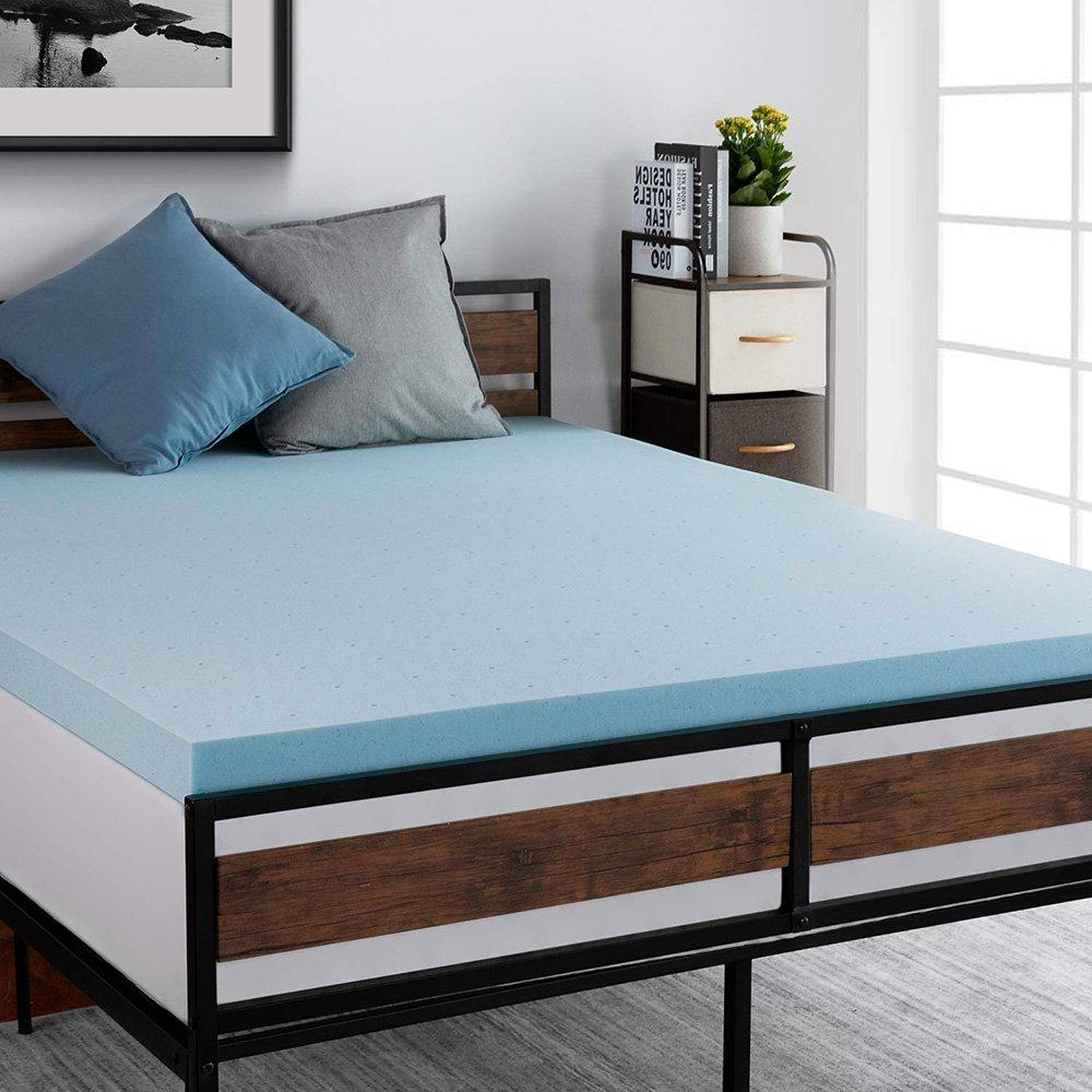 3/4 Inch Thickness Gel Memory Foam Mattress Topper Bed Pad