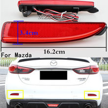 LED Rear Bumper Reflector Brake Stop Light For Mazda 6 Atenza For Mazda 2 DY For Mazda 3 Axela (CA240) Car-styling Left & Right(China)