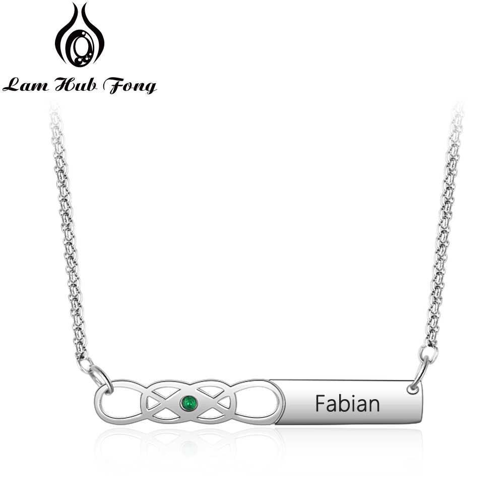 Персонализированное выгравированное название ожерелье s Бесконечная любовь