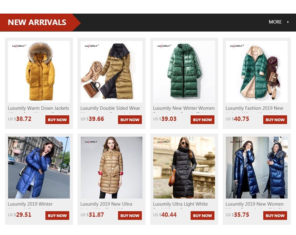 Lusumily 2019 nowych kobiet zimowe ocieplane kurtki Chic
