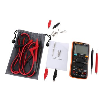 цена на ANENG AN8008 Digital Multimeter 9999 Counts With Backlight AC/DC Volt Amp Ohm Capacitance Frequency Diode Tester Multi Meter