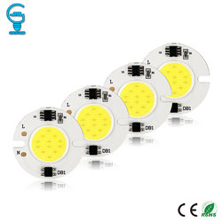3W 5W 6W 7W 10W 15W COB lampa układowa 220V 240V inteligentna IC nie ma potrzeby kierowcy chip led na światło halogenowe reflektor diy oświetlenie zimny biały w Chipy LED od Lampy i oświetlenie na