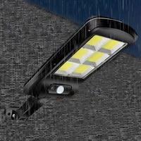 Farola Solar para exteriores, luz con 3 modos de luz, sensor de Cuerpo impermeable, iluminación de seguridad para patio y patio