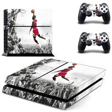 PS 4 Sticker Basketball Play station 4 Stickers PS4 Skin Decal Pegatinas Adesivo For PlayStation 4 console and 2 controller