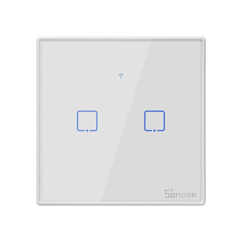 Image 3 - Nowy Sonoff T2 UK inteligentne wifi RF433/aplikacja ewelink/sterowanie dotykowe przełącznik ścienny 1/2/3 Gang, aktualizacja z Sonoff T1, dla Alexatouch control switchtouch wall light switchswitch 1 gang -
