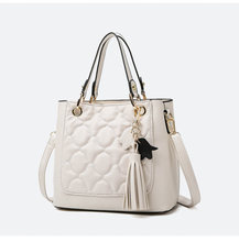 Женская вместительная сумка тоут в стиле ретро мессенджер на
