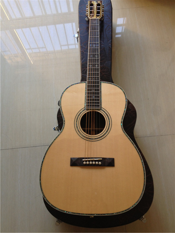 free shipping all Solid OO acoustic guitar customize 42sc model handmade guitar