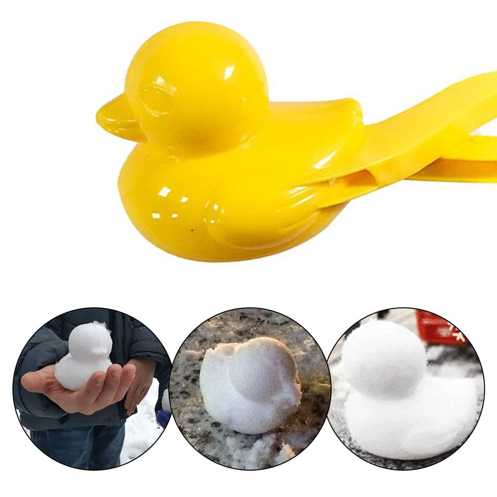 Fun Duck Shaped Snowball Maker Clip Children Outdoor Winter Snow Sand Mold Tools
