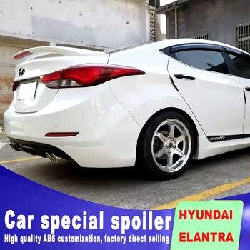цена на read stop brake lamp LED light High Quality ABS Material for HYUNDAI  ELANTRA spoiler Car Rear Wing Primer Color rear spoiler