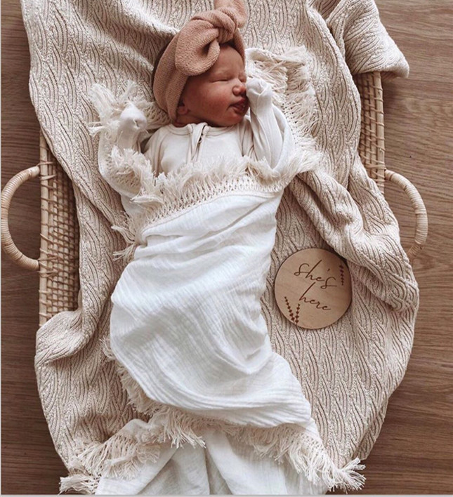 6 Layers Newborn Swaddle Wrap Blanket Cotton Baby Receiving Blanket Infant Sleeping Warm Quilt Bed Cover Muslin Baby Blanket