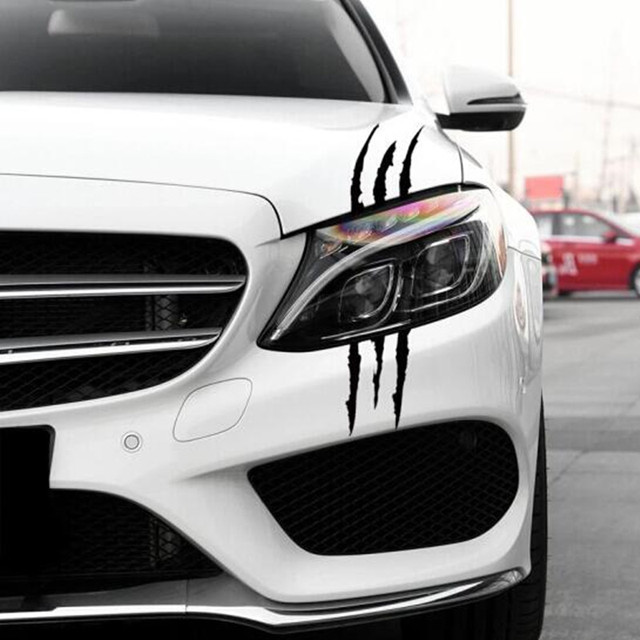 Hot Car Monster Claw Scratch Decal Stickers Car Styling For Ford Focus Kuga Fiesta Ecosport Mondeo Escape Explorer Edge Mustang