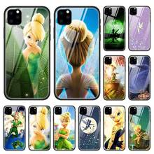 Wendy Tinkerbell Case for Apple iphone 11 Pro XR XS Max X 7 8 6 6S Plus Tempered Glass + Black Silicone Anime Phone Cover Coque