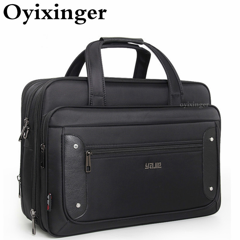 Large Capacity Business Men Briefcase Male Handbags Laptop Bags 17 Inches Oxford Crossbody Travel Bag Sac Homme Bandolera Hombre
