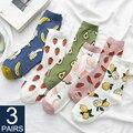 3 Pairs Neue Cartoon Obst Baumwolle Socken Frauen Erdbeere Avocado Zitrone Koreanische Farbe Harajuku Warme Lange Crew Socken Neuheit 2020