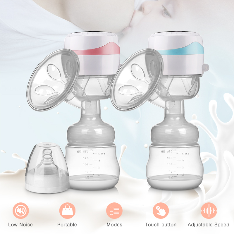 Electric Breast Pump Milk Pump Integrated Portable Easy Convenient Charged Small Volume Postpartum Supplies