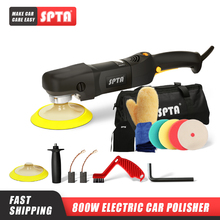 SPTA 5inch 800W Rotary Polishing Machine Home DIY Auto Polisher with Polishing Pad Set Adjustable Speed Car Polisher
