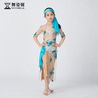 Dance wing children's belly dance performance clothing autumn 2019 performance clothing robe oriental dance rt388
