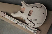 free shipping electric guitar with sculpture body,semi-hollow guitar,maple neck,Support color customization(China)