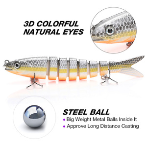 Image 3 - 13.7cm 26g Pike Wobblers Fishing Lures Sinking 8 Segments Multi Jointed Artificial Bait Hard Swimbait Crankbaits Fishing Tackle