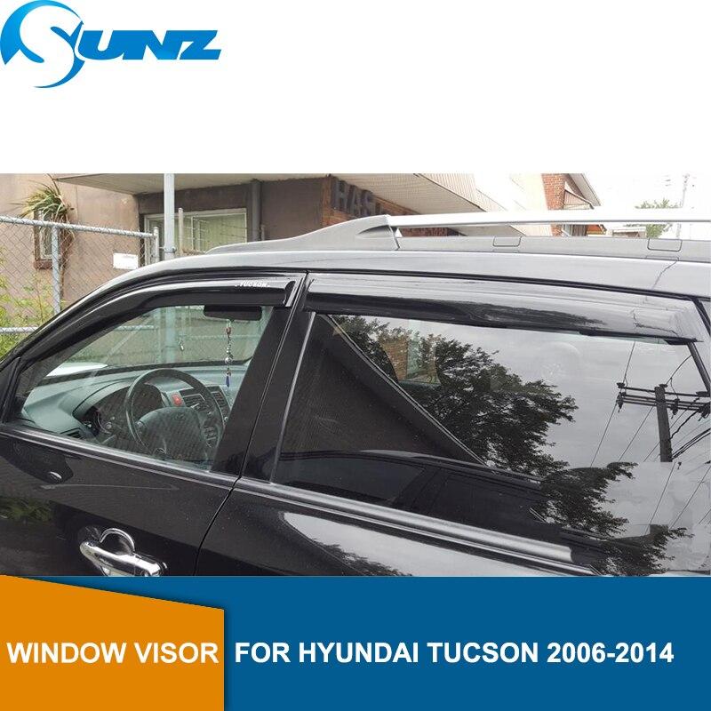 Car door visor For HYUNDAI TUCSON  Rain protector 2005 2006 2007 2008 2009 2010 2011 2012 2013 2014 SUNZ