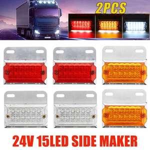 Image 1 - 2/4/6/10 sztuk 24V 15 światła obrysowe LED oświetlenie samochodu lampy zewnętrzne Squarde ostrzeżenie tylne lampy kierunkowskazu u nas państwo lampy Auto ciężarówka z przyczepą ciężarówki