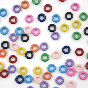 Image 1 - Ojales de Metal con agujeros de 11 colores variados para manualidades, cuero, zapatos de Scrapbooking, cinturón, bolsa, etiquetas para ropa, accesorios de moda, 100 Uds.