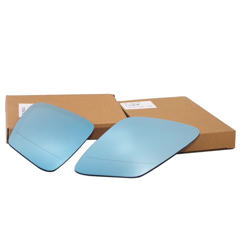 Left Passenger side blue Wide Angle mirror glass for BMW 5 6 Series 03-10 Heated