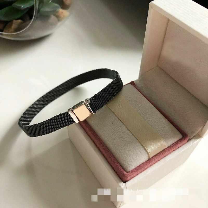 Original 925 Sterling Silber Perlen Reflexion Armband Fit Pan Charms Clips Silber Farbe Perlen Femme Mode Schmuck Machen