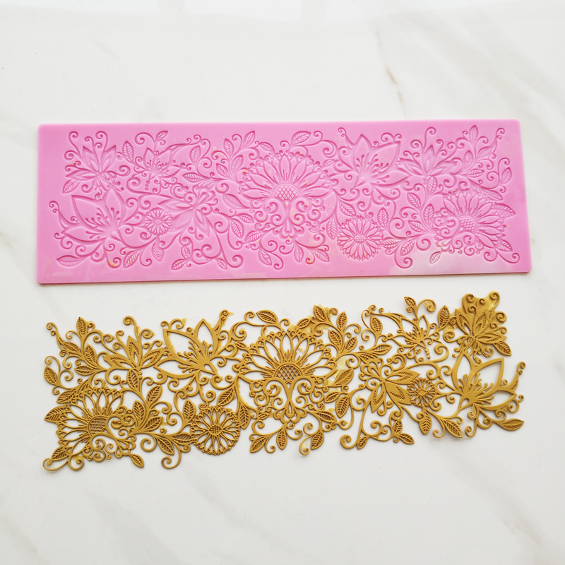 New Lace Cake Lace Silicone Mold High-end Wedding Lace Cake Decoration Tools