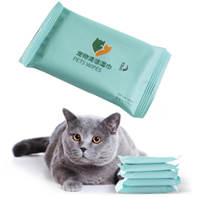 10pc Pet Eyes Wet Wipes Dog Cleaning Paper Towels Cat Tear Stain Remover Gentle Non-intivating Cleaning Wipes Grooming Supplies