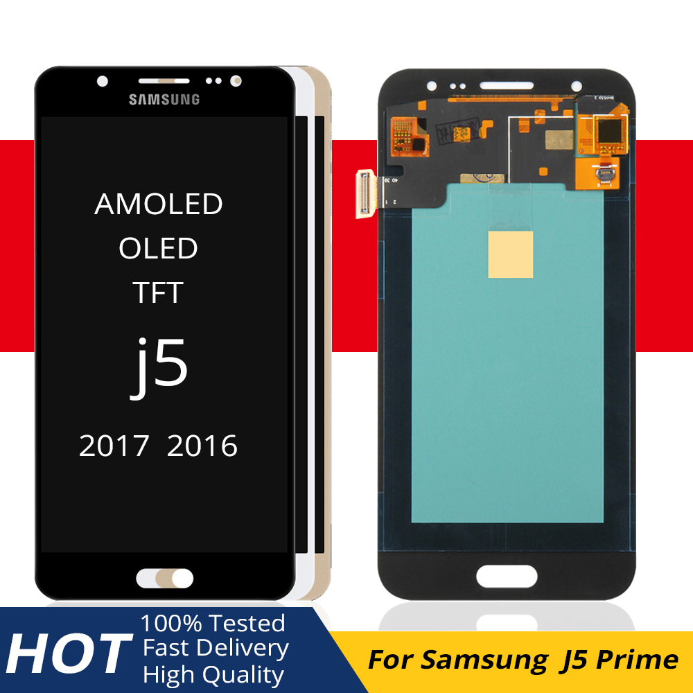 For samsung galaxy j500h lcd <font><b>AMOLED</b></font> / TFT screen <font><b>j500</b></font> j500f j500fn j500m lcd oled display 2017 100% Tested in mobile phone LCDs image