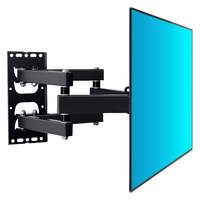 High Quality Retractable TV Lifter Wall Bracket Rotating LCD Display Wall Shelf Support For TV Wall Mount Head Display Bracket
