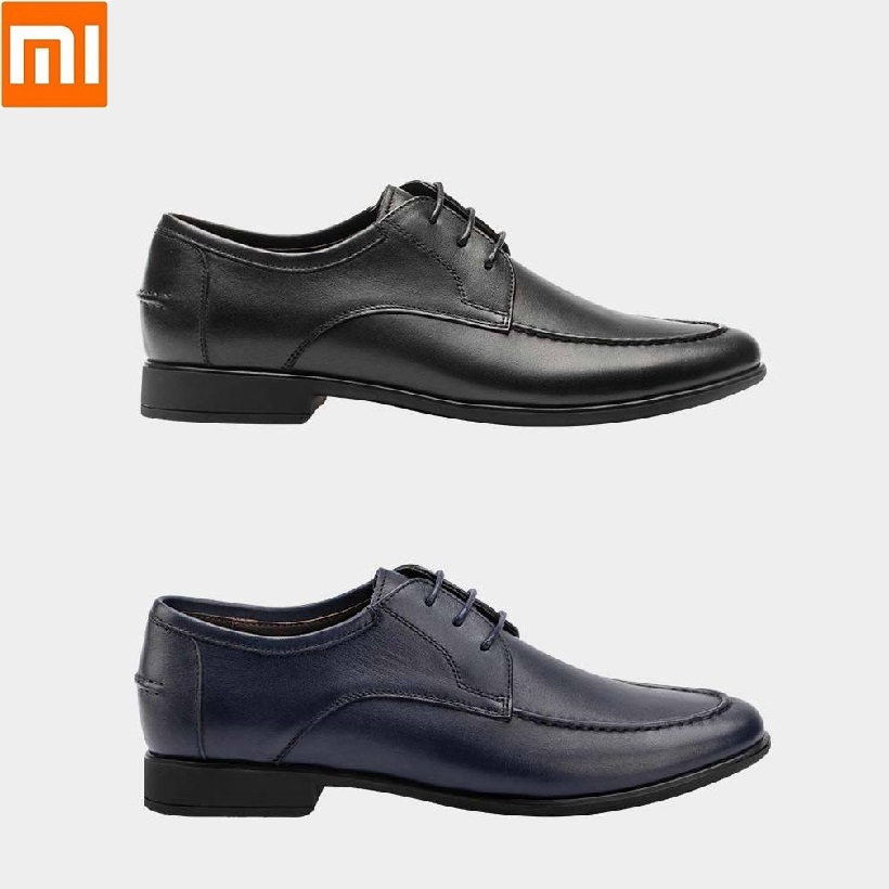 Xiaomi New  Men Business Dress Wedding Leather Shoes male Flats casual shoes Nappa top layer cowhide Comfortable sole Bottles Jars & Boxes     - title=