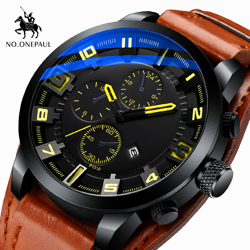 Army Military Quartz Mens Watches Top Brand Luxury Leather Men Watch Casual Sport Male Clock Watch Relogio Masculino Waterproof