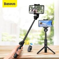 Baseus inalámbrico Bluetooth Selfie Stick para IOS Android teléfono plegable de mano Monopod obturador remoto extensible Mini trípode