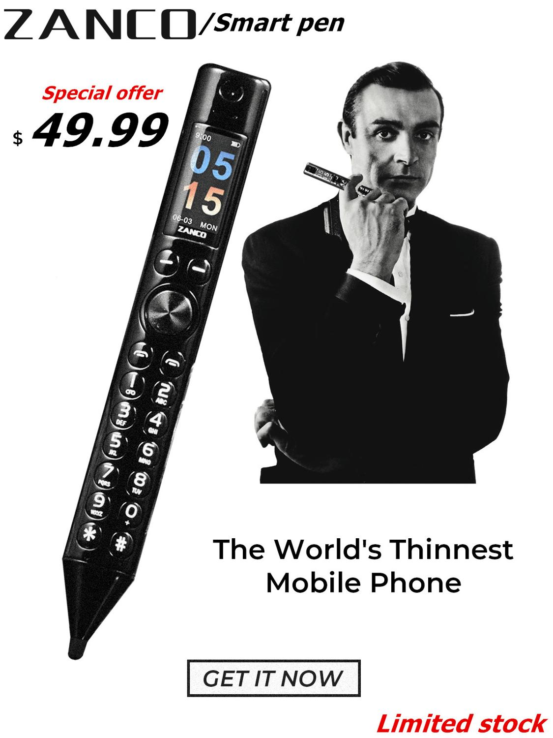 ZANCO Smart Pen World Thinnest Mobile Phone -Special Offer