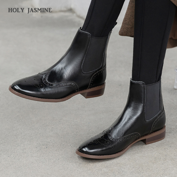 2020 High Heels Women Ankle Boots Pointed Toe Footwear Genuine Leather Female Classic Chelsea Boot Fashion Elastic Shoes Woman women ankle leather boots split toe round heels splited toe lady shoes woman high heels female boots ninja tabi boots