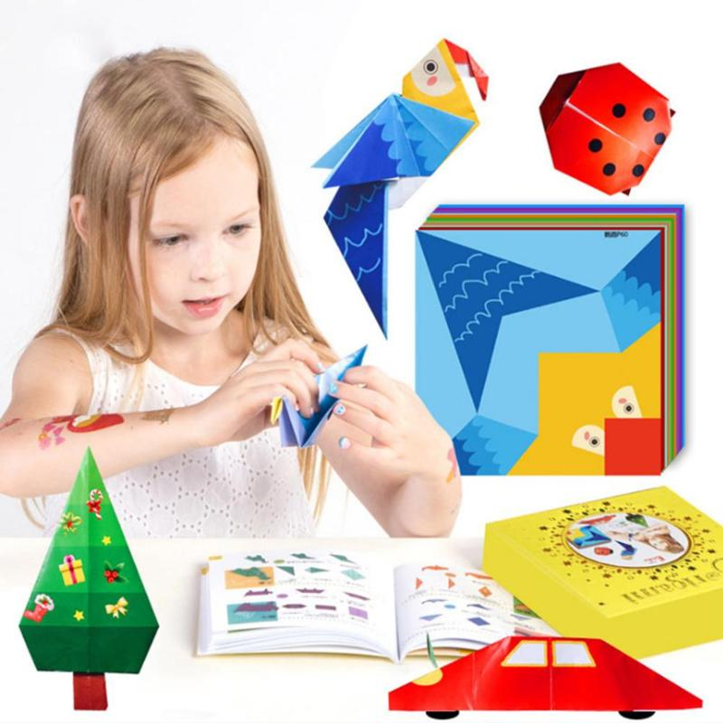 Children's Origami Toy Gift Box Set Kindergarten DIY Manual Science And Education Toy Work Package With 200 Color Paper