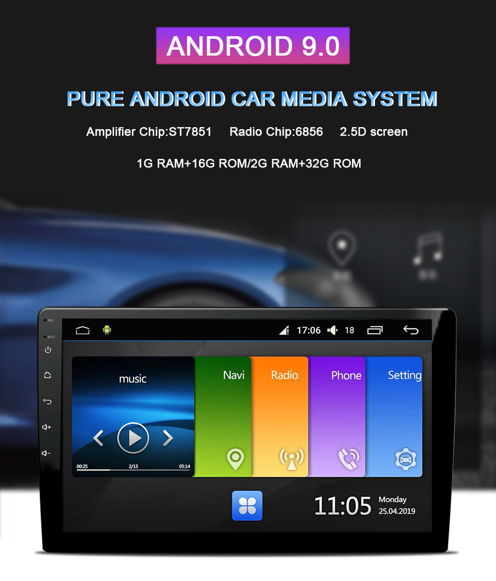 Flash Deal Funrover 2.5D+IPS android 9.0 Car Radio Multimedia Player dvd GPS Navigation For Hyundai Solaris Verna Accent i25 2010-2016 RDS 1