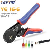 YE 16-6 0.08-16mm ² 30-5AWG rurowe narzędzia do zaciskania terminali mini szczypce do zaciskania dużych rozmiarów terminali zestaw zacisków elektrycznych