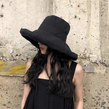 Шляпа от солнца с большим козырьком женская летняя Панама рыбака