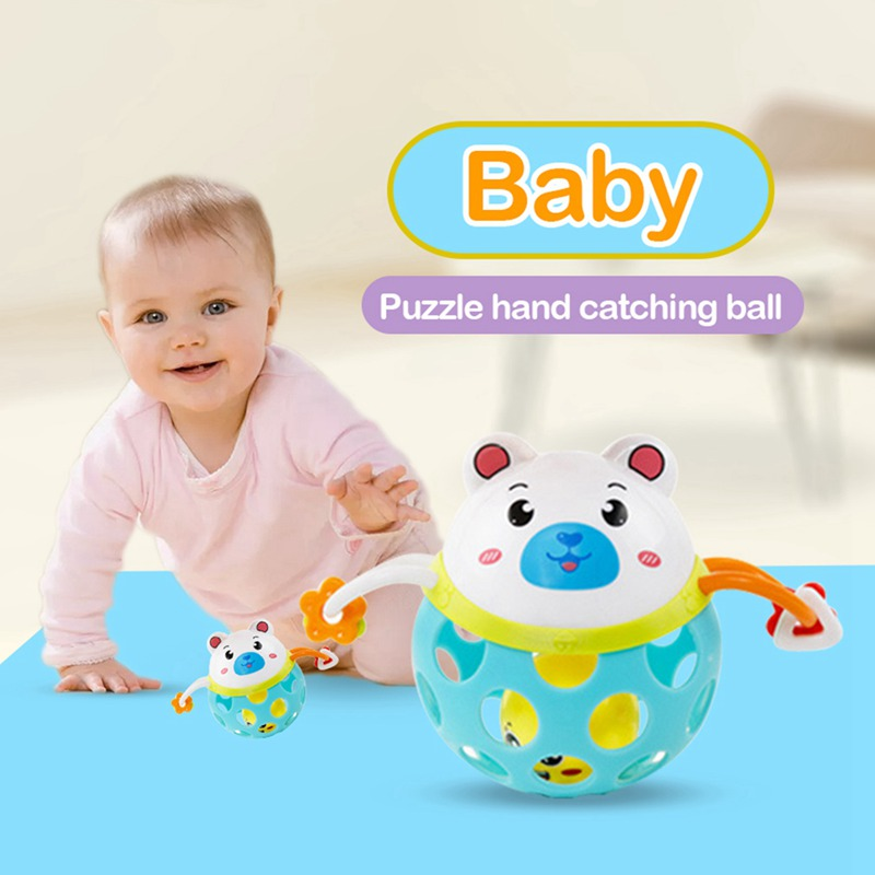Little White Bear Soft Gel Can Bite Rattle Baby Baby Hand Grip Ball Animal Toy 0-3 Year Old Learn To Climb The Toy